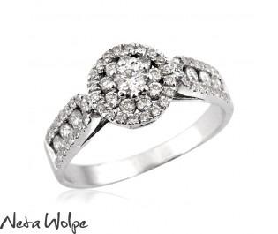 טבעת אירוסין יוקרתית משובצת יהלומים