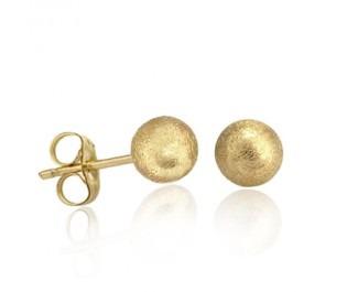 עגילי זהב צמודים ועגולים