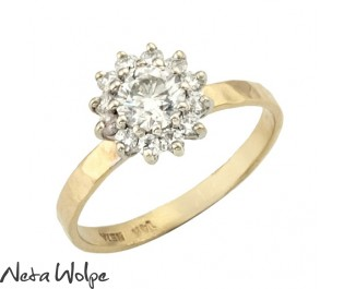 טבעת אירוסין נסיכותית משובצת יהלומים