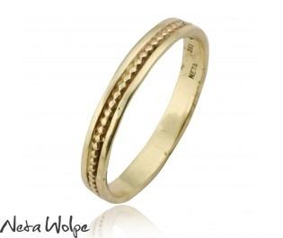 טבעת נישואין עדינה יוניסקס