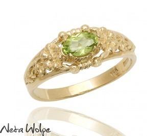 טבעת זהב משובצת פרידות