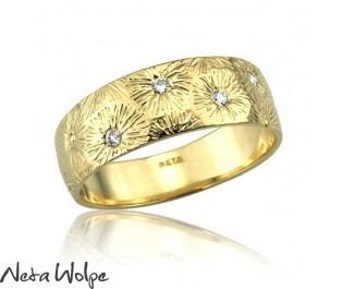 טבעת אר נבו משובצת יהלומים