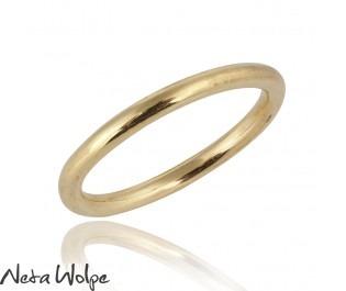 טבעת נישואין עגולה