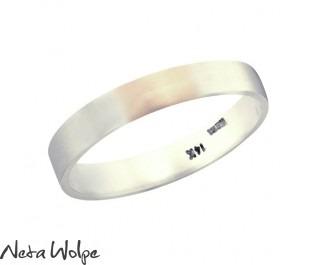 טבעת נישואין לגבר מזהב לבן 14 קראט