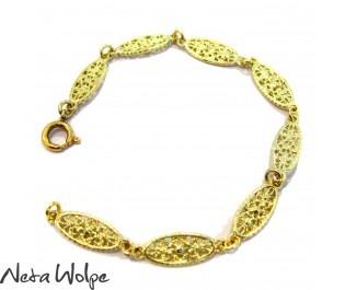 צמיד זהב פיליגרן בהשראת סגנון האר נבו