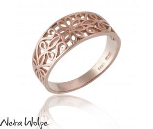 טבעת תחרה פרחונית