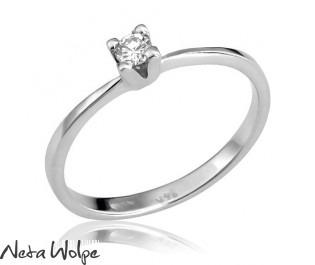 טבעת סוליטר עדינה משובצת יהלום