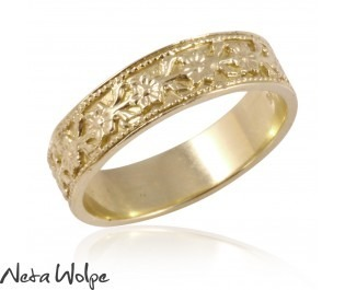 טבעת נישואין פרחונית במראה ונטאג'