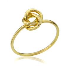 Elegant Wire Knot Ring Yellow Gold