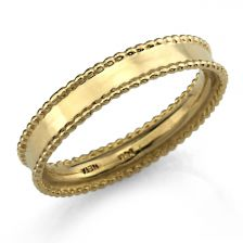 Art Deco Solid Gold Band