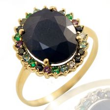 Sapphire Victorian Style Diana Ring