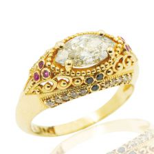 14k Gold Ruby Cleo Statement Ring