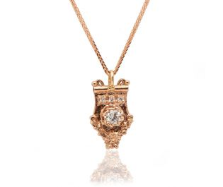 Baroque Inspired Necklace Rose Gold