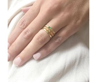 Colorful Gemstone Stackable Rings