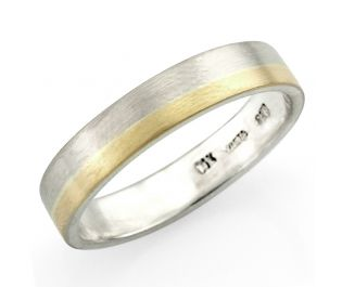Flat Style Solid Gold Bands