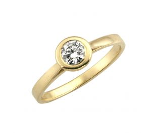 Yellow Gold Polished Ring