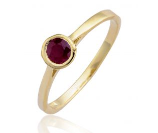 Polished Ruby Ring