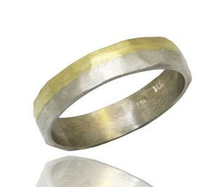 Two-Toned Gold Band